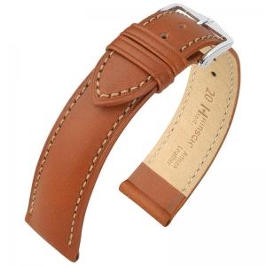 Hirsch Kent Artisan Horlogebandje Italiaans Kalfsleer Goudbruin
