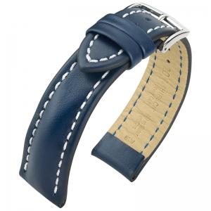 Hirsch Heavy Calf Horlogebandje 100M Water Resistant Blauw