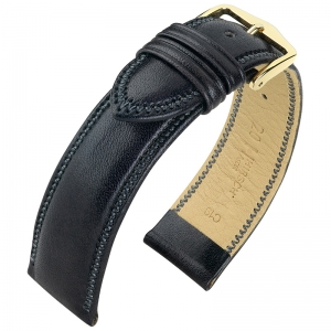 Hirsch Ascot Horlogebandje Engels Kalfsleer Zwart