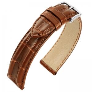 Hirsch San Francisco Louisiana Alligator Horlogebandje Semi-Mat Goudbruin