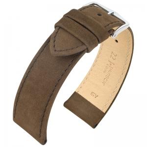 Hirsch Nubuck Osiris Horlogebandje Kalfsleer Bruin