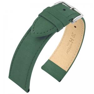 Hirsch Nubuck Osiris Horlogebandje Kalfsleer Groen