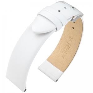 Hirsch Toronto Italiaans Kalfsleer Horlogebandje Wit