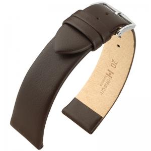 Hirsch Toronto Italiaans Kalfsleer Horlogebandje Bruin