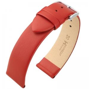 Hirsch Toronto Italiaans Kalfsleer Horlogebandje Rood