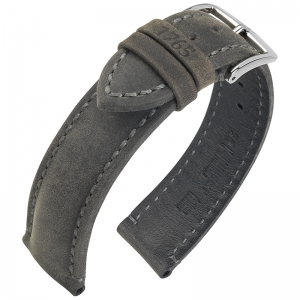 Hirsch Heritage 1765 Artisan Horlogebandje Antraciet