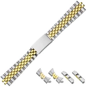 Jubilee Horlogeband 'type Rolex' Bicolor Roestvrij Staal 20mm