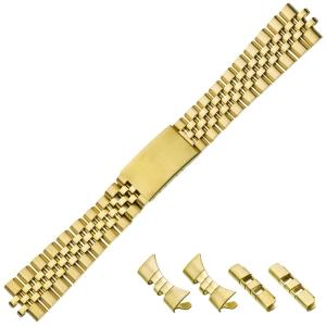 Jubilee Horlogeband 'type Rolex' Goud Roestvrij Staal 20mm