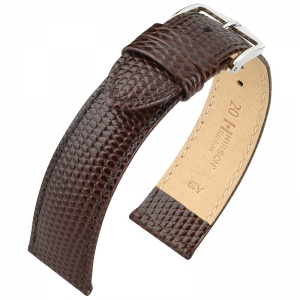Hirsch Rainbow Horlogebandje Lizardgrain Bruin