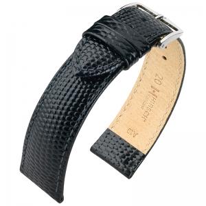 Hirsch Rainbow Horlogebandje Lizardgrain Zwart