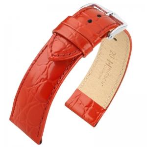 Hirsch Crocograin Horlogebandje Rood