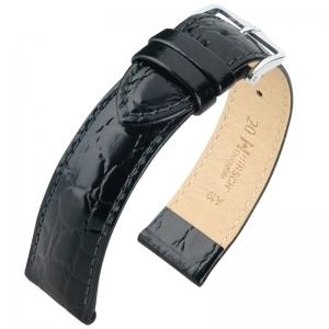 Hirsch Crocograin Horlogebandje Zwart