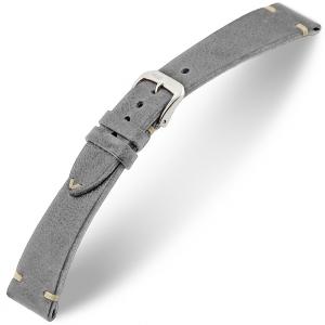 Rios Bedford Horlogebandje Vintage Leer Grijs