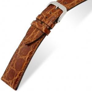 Rios Lord Horlogebandje Krokodillenleer Honing