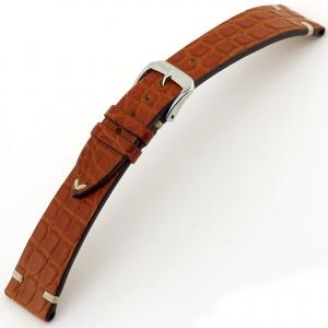 Rios Royal Horlogebandje Alligatorleer Mahonie