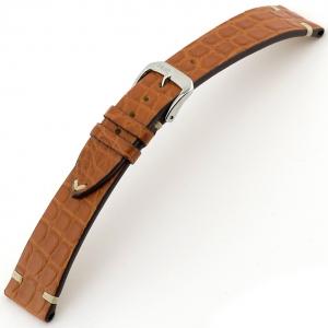 Rios Royal Horlogebandje Alligatorleer Cognac
