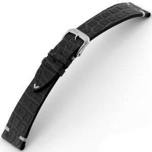 Rios Royal Horlogebandje Alligatorleer Zwart
