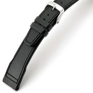 Rios Scirocco Horlogebandje voor IWC Kalfsleer Zwart