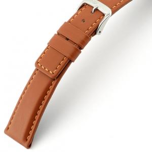 Rios Solid Horlogebandje Rundsleer Cognac