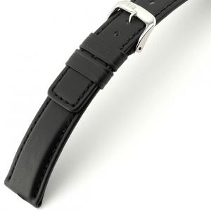 Rios Solid Horlogebandje Rundsleer Zwart