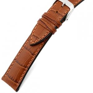 Rios Louisiana Alligator Horlogebandje Rundsleer Cognac