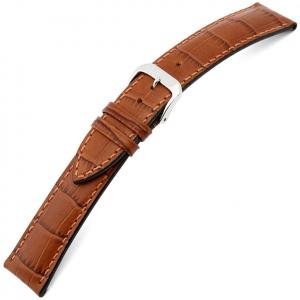 Rios Louisiana Horlogebandje Rundsleer Cognac
