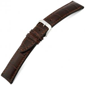 Rios Louisiana Horlogebandje Rundsleer Bruin