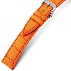 Rios Louisiana Alligator Horlogebandje Rundsleer Oranje