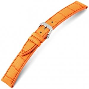 Rios Louisiana Horlogebandje Rundsleer Oranje
