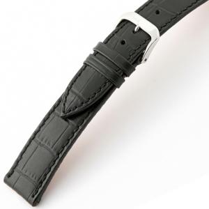 Rios Orlando Alligator Horlogebandje Rundsleer Zwart
