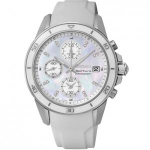 Seiko Sportura Horlogeband SNDX57P1 Wit Rubber