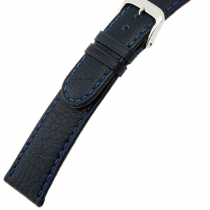 Rios Texas Horlogebandje Buffelleer Blauw