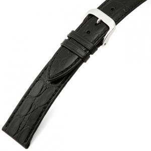 Rios Brazil Krokodil Horlogebandje Rundsleer Zwart