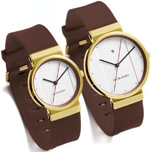 Jacob Jensen horlogeband 758, 768 bruin rubber 17mm