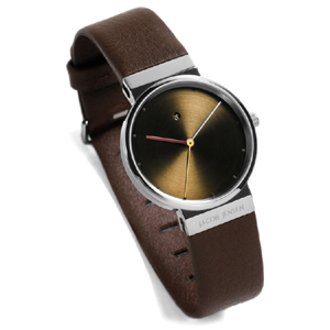 Jacob Jensen horlogeband 853 donkerbruin leder 17mm