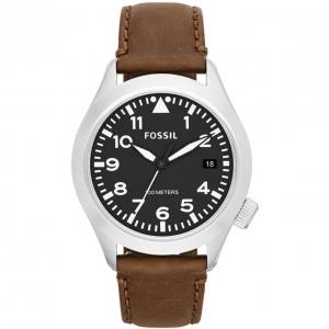 Fossil AM4512 Horlogeband Bruin Leer