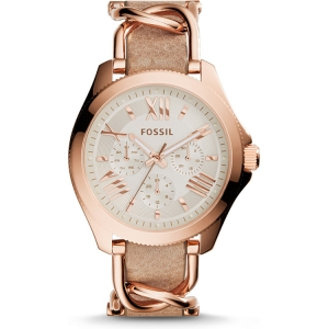Fossil AM4620 Horlogeband Beige Leer
