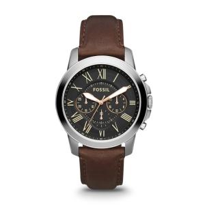 Fossil AN4512 Horlogeband Bruin Leer