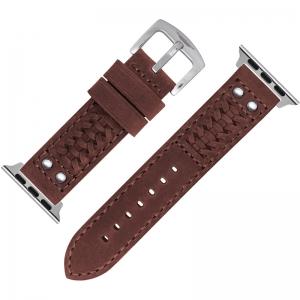 StrapWorks Woven Horlogebandje voor Apple Watch Roodbruin