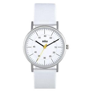 Braun BN0011WHWHL Horlogeband Wit Leer