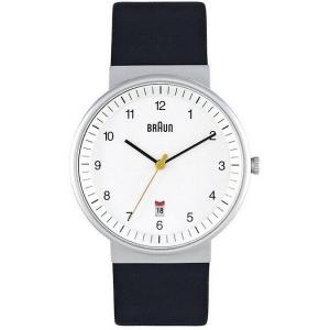 Braun BN0032WHBKG Horlogeband Zwart Leer