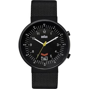 Braun BN0087BKBKMHG horlogeband Zwart Mesh (Milanese)