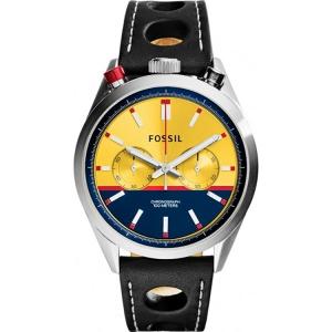 Fossil CH2979 Horlogeband Zwart Leer