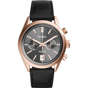 Fossil CH2991 Horlogeband Zwart Leer
