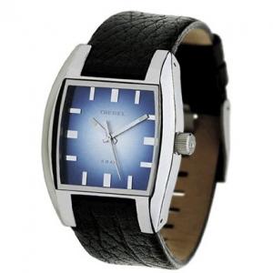 Diesel DZ1032 Horlogeband Zwart Leer