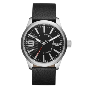 Diesel DZ1766 Horlogeband Zwart Leer