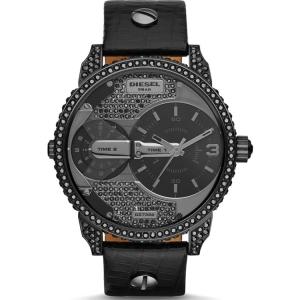 Diesel DZ7328 Horlogeband Zwart Leer