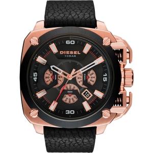 Diesel DZ7346 Horlogeband Zwart Leer