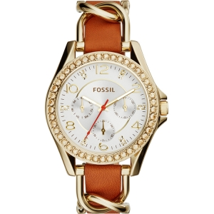 Fossil ES3723 Horlogeband Bruin Leer