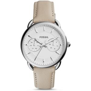 Fossil ES3806 Horlogeband Beige Leer